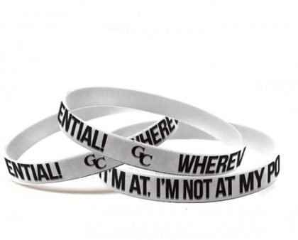 Wherever I'm at...I'm not at my Potential. GC Wristbands