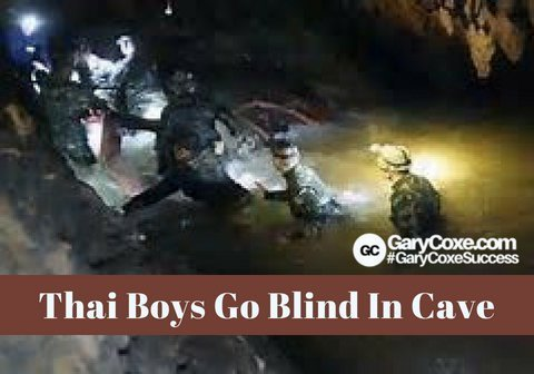 Thai Boys Go Blind In Cave!